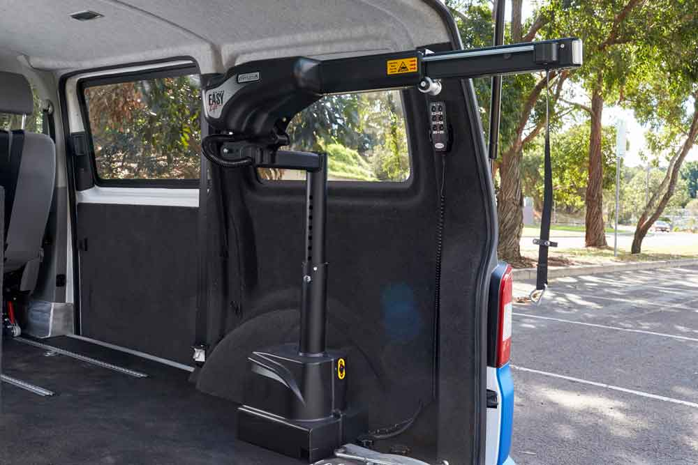 Hoist for disability car