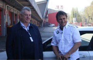 Fabio Domeneghini (left) and Alex Zanardi
