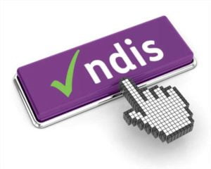 Tick NDIS with digital hand pointing to it