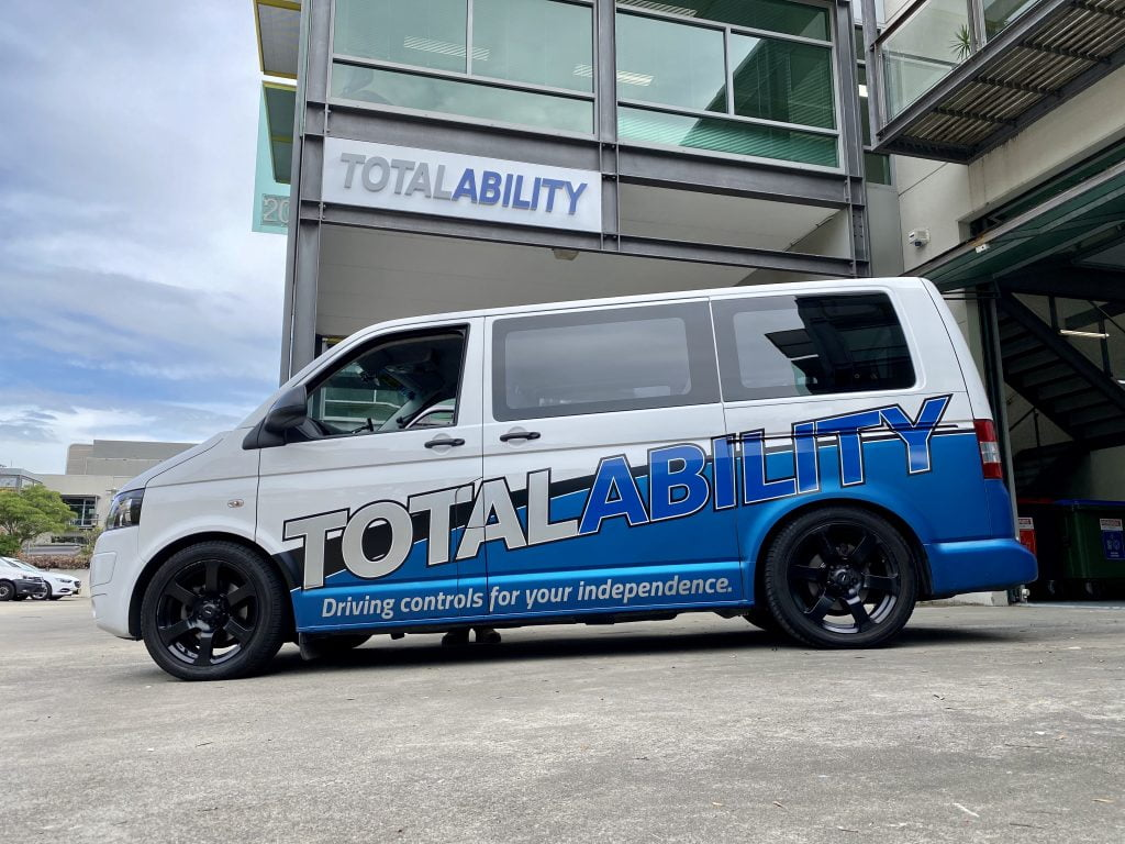 Total Ability Van in front of Total Ability office