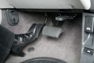 Flip Up Accelerator pedal flipped up
