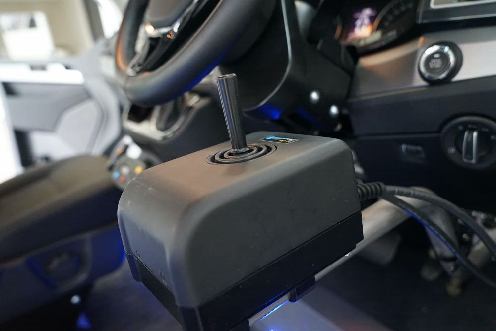 Joystick control from Fadiel Italiana to the right of the steering column