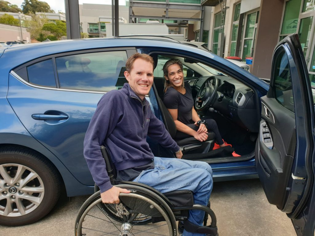 Madi De Rozario and Paul Crake from Total Ability